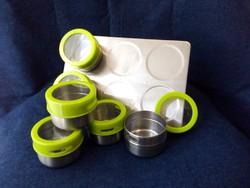 6 darabos mágneses érmetartó alkalmatosság tároláshoz és tisztításhoz zöld (id43637)