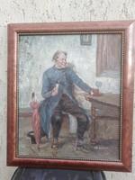Ülő férfi