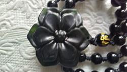 Jáde virág medál állítható nyaklánccal