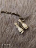 Miniatür csont és réz távcső