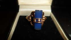 14K arany gyűrű / kalcedon