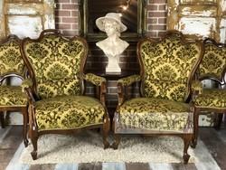 Neó Barokk ülőgarnitúra, fotel, székek.