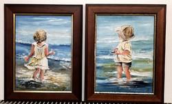 Czinóber - Várj meg ; Merész elhatározás ( bűbájos gyermekfestmények, új keretben )