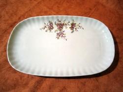 F_030 Bavaria Wunsiedel porcelán süteményes, sültes kínáló tál, tányér 32 x 19 cm