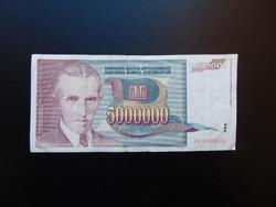 5 millió dinár 1993 Jugoszlávia 01