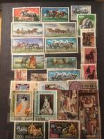 26 darab bélyeg különböző országokból .