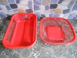Kosár szett készlet kenyeres gyümölcsös piros retro párban