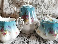 Antik teás kanna ,kiöntő, cukortartó