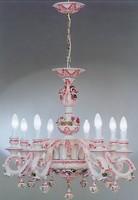 Hatalmas porcelán csillár két falikarral