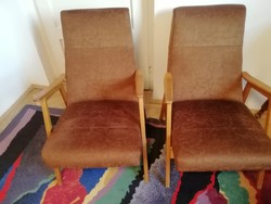 2 db régi cseh retro fotel