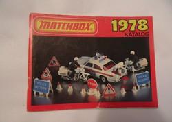 Matchbox katalógus 1978 régi retro játék