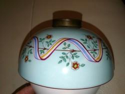 Lámpabetét, antik lámpa üveg hatású, kerámia vagy porcelán alján mélynyomás! Kézifeatett!biszkvit!