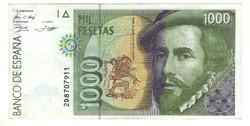 1000 peseta 1992 Spanyolország