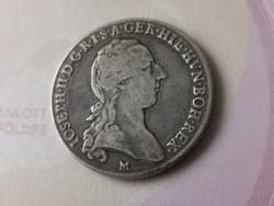 """1790""""M"""" II,József ezüst koronatallér 29,4 gramm 0,873 Ritka"""