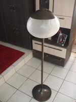 L Szabó Erzsébet üvegművész állólámpa vörösréz lámpa