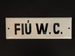 FIÚ W.C. - zománctábla (zománc tábla)