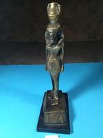 Bronz egyiptomi szuvenír szobor