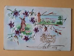 Antik dombornyomott húsvéti üdvözlőlap, levelezőlap, 1903
