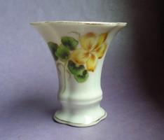Antik 1943 virágos Herendi porcelán fogpiszka, cigaretta tartó, váza