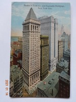 Régi képeslap: Amerika (USA),  New York City,  Bankers Trust and Equitable Building, 1921