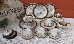 Madaras Tojáshéj Gésás  porcelánok tányér csésze cukortartó tejszínes Gyűjtői Gyönyörű darabok.