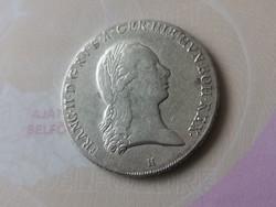 "1795""H""I.Ferenc koronatallér 29,4 gramm 0,873 szép darab"