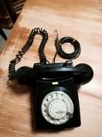 Tárcsás telefon fekete,retro