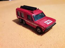 Régi retro gyerek játék fém autó tűzoltó Matchbox