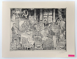 """Stettner Béla """" A KMP első kongersszusa Bécsben 1925. """" rézkarc"""