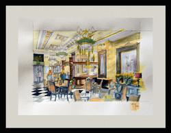Akvarell, Szamos kávézó Budapesten