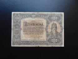 1000 korona 1920 B 08 nagy méretű bankjegy