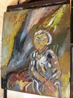 Olaj, vászon festmény, 60 x 50 cm-es nagyságú nem szignózott.