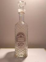 Retro Maraska likőrös üveg régi címkés italos dugós palack