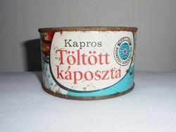 Retro GLOBUS konzerv doboz konzervdoboz - Kapros töltött káposzta - Budapesti Konzervgyár - 1970-es