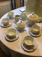 Zsolnay pajzspecsétes manófüles teáskészlet