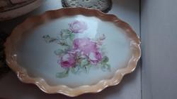 Antik porcelán rózsás tálca