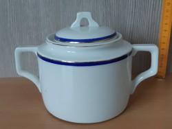 Zsolnay aranyozott teás cukortartó