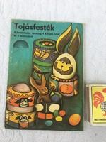 Retro húsvéti csomagolás régi NDK Tojásfesték - Vegyianyag Kereskedelmi Vállalat