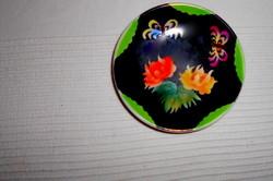 Bakos Éva  kézzel festett szignált kistányér