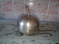 Ezüstözött alma bonbonier, vagy ékszertartó