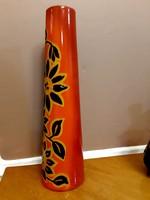 Tűzzománc váza-  Lampar Bonyhád