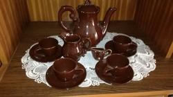 Barokk kerámia kávés készlet
