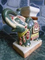 Virágtartó asztali elefánt kerámia indiai 13*12*6 cm