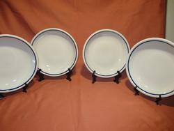 4 db kék csíkos Zsolnay tányér