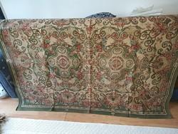 Régi  nyomott,vászony,szövet,textil ágytakaró,asztalteritő