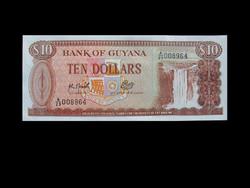 UNC - 10 DOLLÁR - GUAYANA - 1992 !!!