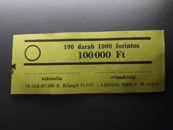 Retró bankjegykötegelő szalag 1000 Ft-os bankjegyhez - Papírpénz kötegelő bankjegyszalag