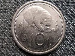 Pápua Új-Guinea II. Erzsébet (1975 - ) 10 toea 1976 (id43814)