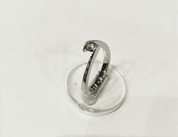 Gyémánt köves fehér arany gyűrű
