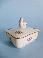Lippelsdorf porcelán gólyás bonbonier